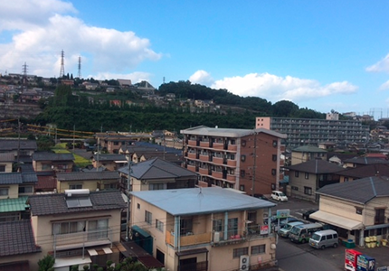 コアコンディショニングサロン コア・ナチュレからの眺め